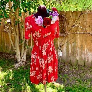 Anthro HD in Paris Floral Dress